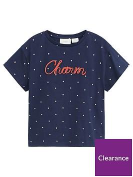 mango-girls-charm-spot-short-sleeve-tshirt-navy
