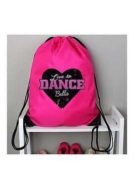 the-personalised-memento-company-personalised-born-to-dance-kit-bag