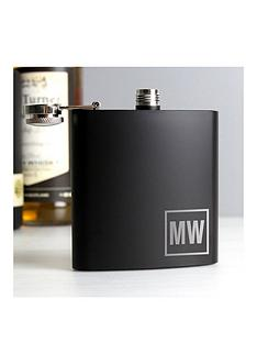 personalised-black-monogram-hip-flask