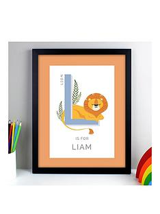 personalised-animal-alphabet-framed-print