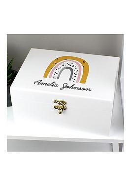 personalised-rainbow-baby-keepsake-box