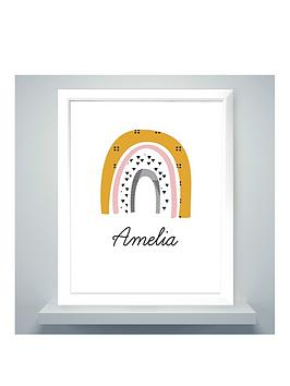 personalised-rainbow-framed-print