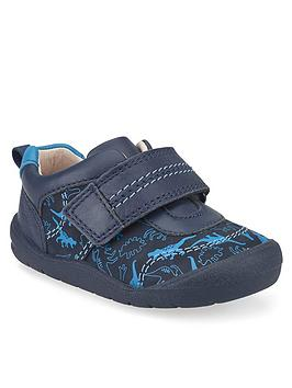 Start-Rite Start-Rite Boys Footprint Dino Shoes - Navy Picture