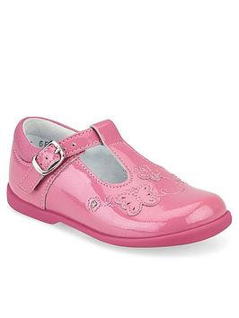 Start-Rite Start-Rite Girls Sunshine T-Bar Shoes - Pink Glitter Picture