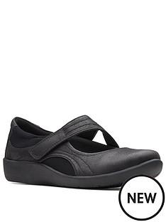 clarks-sillian-bella-leather-flat-shoe-black