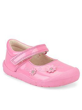 Start-Rite Start-Rite Girls Flex Strap Shoes - Pink Glitter Picture