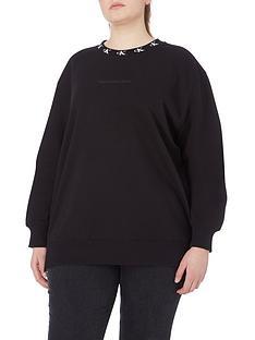 calvin-klein-jeans-plus-ck-logo-trim-neck-sweater-black