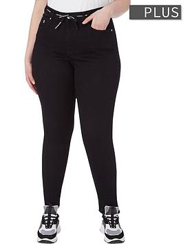 calvin-klein-jeans-plus-sizenbsphigh-rise-skinny-jeans-black