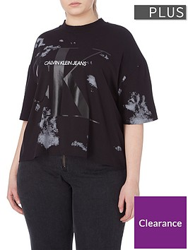 calvin-klein-jeans-plus-sizenbspcloud-washed-t-shirt-black