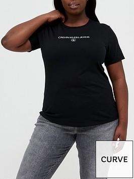 calvin-klein-jeans-plus-sizenbspinst-round-necknbspt-shirt-black