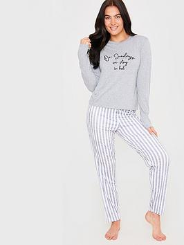 in-the-style-in-the-style-x-billie-faiers-grey-on-sundays-we-stay-in-bed-slogan-long-sleeve-top-and-striped-trousers-pyjama-set