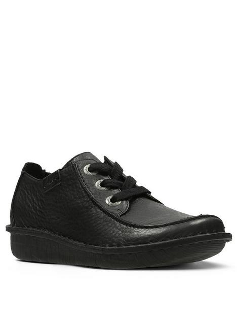 clarks-funny-dream-lace-up-flat-shoe-black
