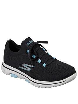 Skechers Skechers Go Walk 5 Trainers - Black/Turquoise Picture
