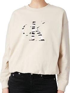 calvin-klein-jeans-zebra-ck-sweat-top-cream