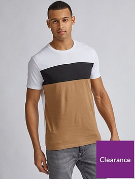 burton-menswear-london-cut-and-sew-panel-t-shirt-whiteblacksand
