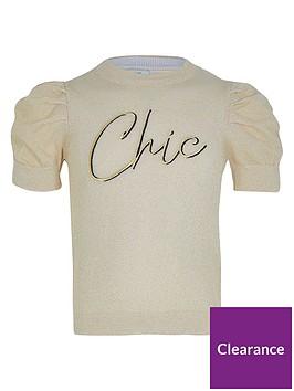 river-island-girls-puff-sleeve-lurex-t-shirt--nbspgold