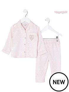 river-island-mini-mini-girls-monogram-pyjama-set-pink
