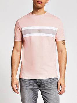river-island-short-sleevenbspmaison-front-panel-tee-light-pink