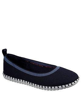 Skechers Skechers Sepulveda Slim Ballerina Shoes - Navy Picture