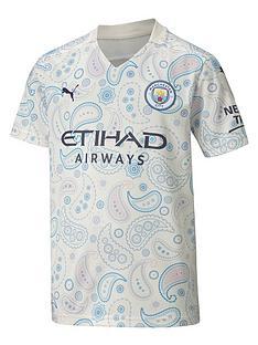 puma-youth-manchester-city-third-short-sleeved-shirt-white