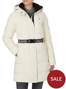 calvin-klein-jeans-waisted-logo-long-padded-coat-whitenbsp