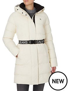 calvin-klein-jeans-waisted-logo-long-padded-coat-whitenbsp