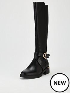 v-by-very-missouri-buckle-trim-riding-boot-black