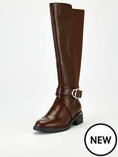 v-by-very-missouri-buckle-trim-riding-boot-brown