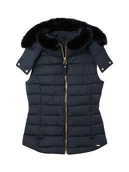 joules-merrium-padded-gilet-with-faux-fur-trim-navy