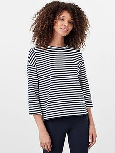 joules-livia-drop-shoulder-jersey-top-navy