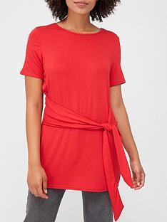 v-by-very-tie-waist-tunic-top-red