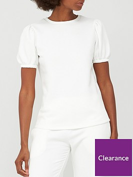 v-by-very-short-sleeve-co-ord-sweat-top-ecru