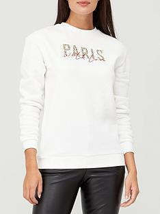 v-by-very-paris-animal-print-embroidery-detail-slogan-sweat-topnbsp--white