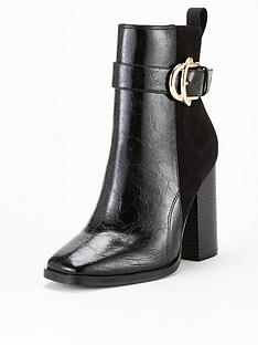 v-by-very-pedro-buckle-trim-block-heel-ankle-boot-black