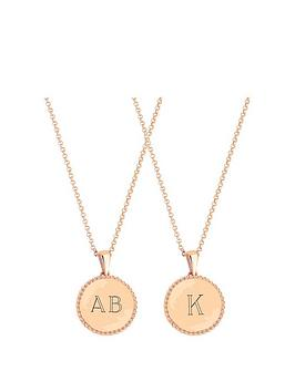 simply-silver-simply-silver-rose-gold-plated-sterling-silver-personalised-engravable-beaded-edge-pendant