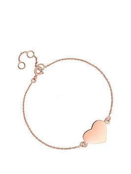 simply-silver-simply-silver-rose-gold-plated-sterling-silver-personalised-engravable-heart-disc-bracelet