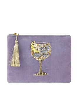 Accessorize   Gin Glass Pouch - Pink