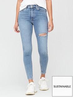 v-by-very-sustainablenbsppremium-high-waist-thigh-rip-skinny-jeansnbsp--bleach-wash