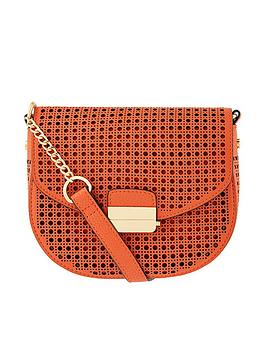 Accessorize Punch Out Crossbody Bag - Orange