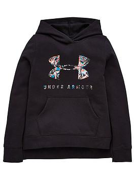 under-armour-childrensnbsprival-print-fill-logo-hoodie-black