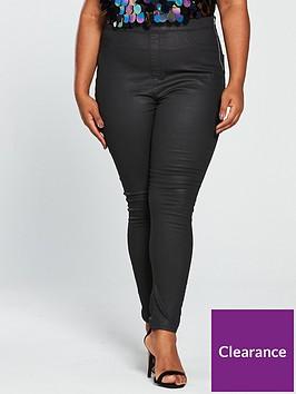 v-by-very-curve-coated-jegging-black