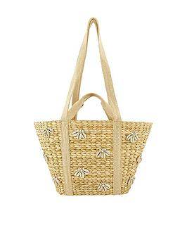Accessorize Accessorize Ocean Embellished Basket - Natural Picture