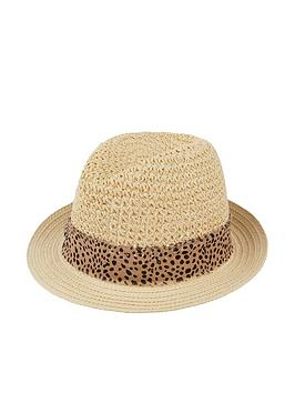 Accessorize   Animal Trim Trilby - Multi