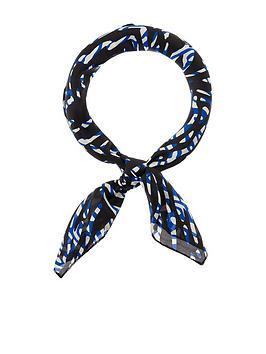 Accessorize Accessorize Zebra Square Scarf - Blue Picture