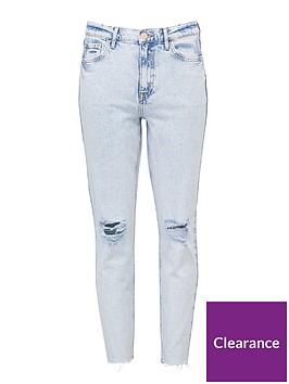 v-by-very-premium-high-waist-slim-leg-jeans-bleach-wash