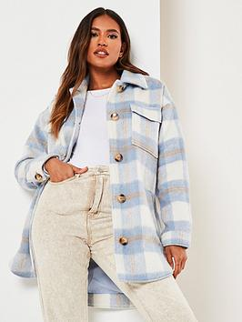 missguided-missguided-brushed-check-shacket-blue