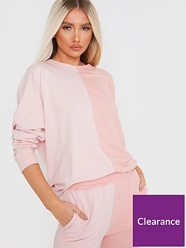 in-the-style-in-the-style-x-francesca-faragonbspcolour-block-sweatshirt-pink