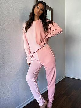 in-the-style-in-the-style-x-francesca-farago-colour-block-joggers-pink