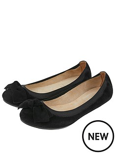accessorize-elasticated-suede-bow-ballerina-flats-black