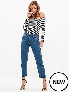 missguided-missguided-wrath-high-risenbspclean-cut-hem-straight-leg-jeansnbsp--blue